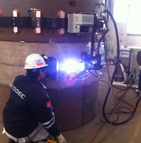 TIP TIG 大筒体容器轨道焊接系统